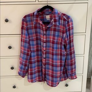 Soft Gap plaid Button up in large